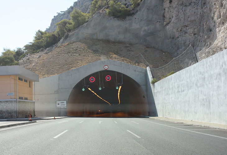 Kakia Skala tunnels in Greece